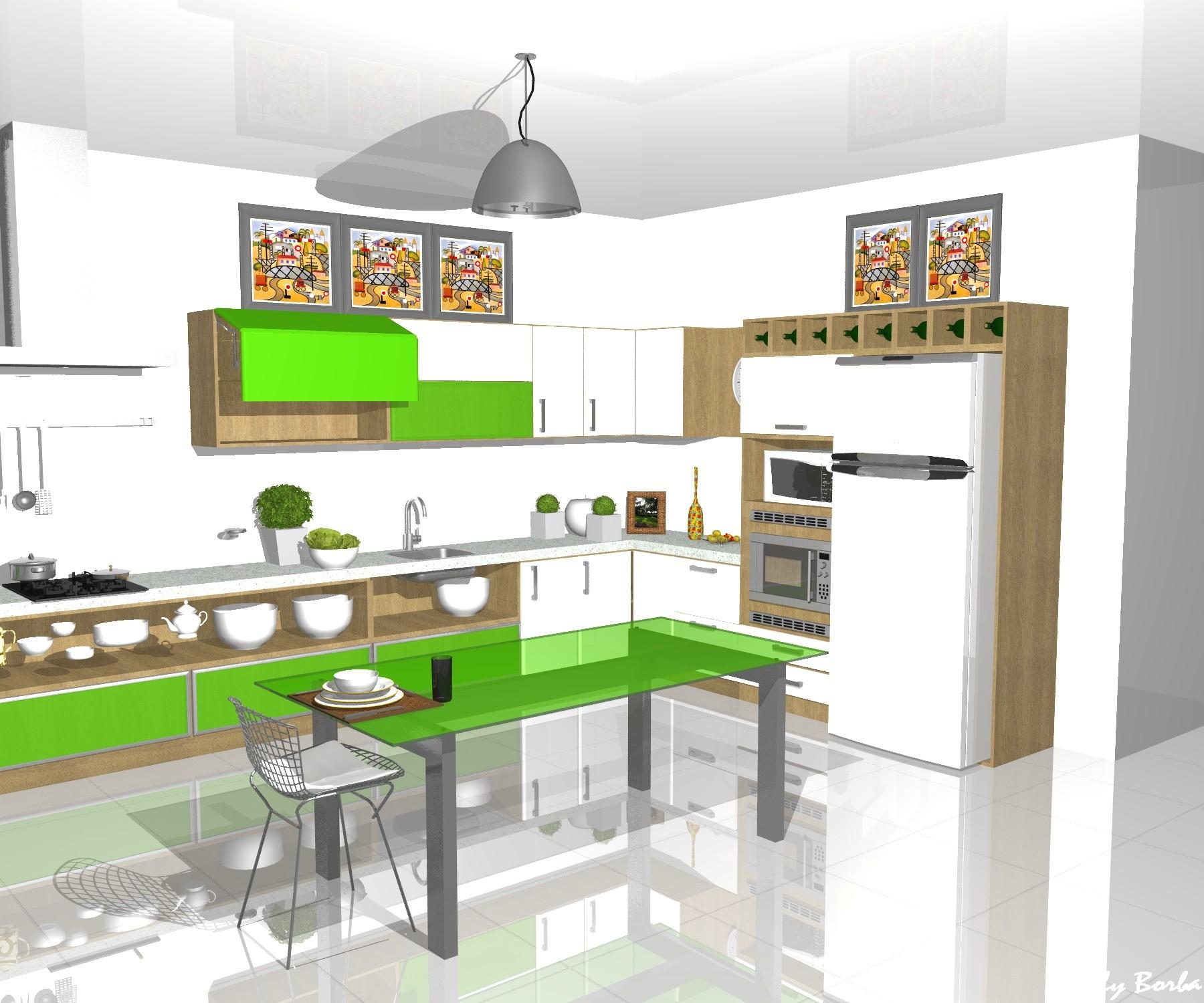 cozinha sala de informática sala de tv quarto #4CB00A 1800 1500